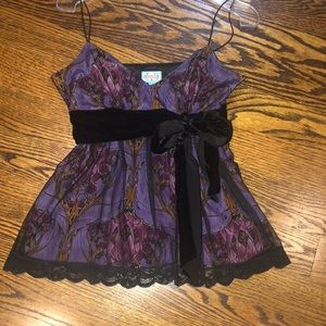 REDUCED!!! NWOT Tracy Reese silk and lace tank